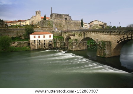 Barcelos historical site in rainy day, Europe, Portugal - stock photo