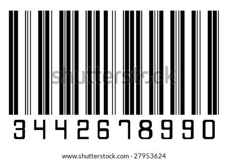 Barcode 1 - stock photo