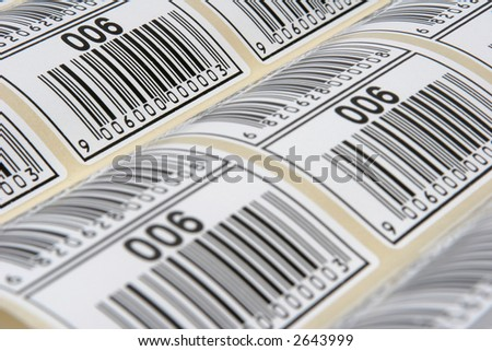 Barcode Labels - stock photo