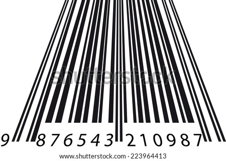 Barcode perspective - stock photo