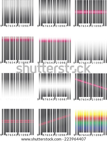 Barcode set - stock photo