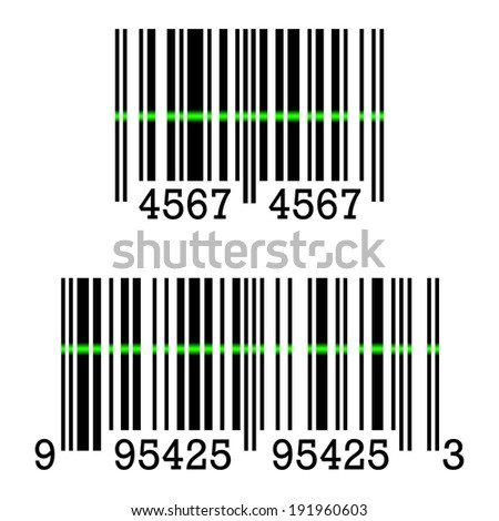 Barcode Sign - stock photo