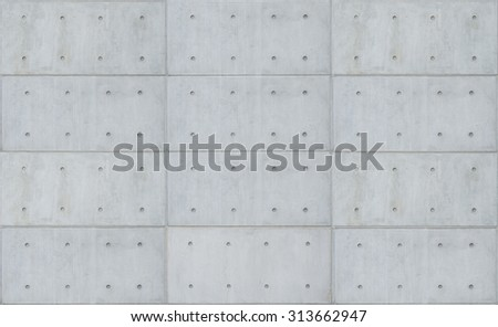 bare cast in place gray concrete wall texture background - stock photo