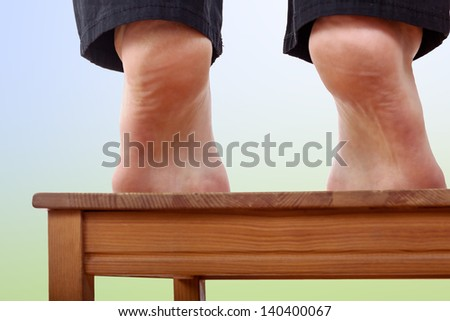Bare feet stretch - stock photo