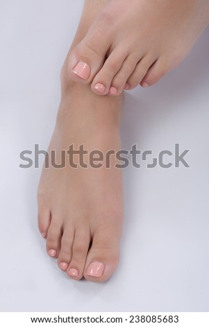 barefoot - stock photo
