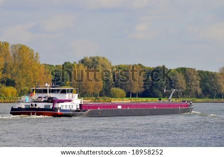 Barge - stock photo