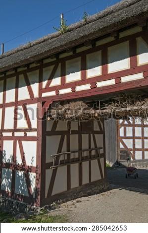 barn ancient - stock photo