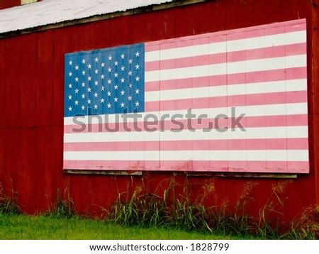 Barn Flag - stock photo