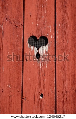 Barn Heart - stock photo