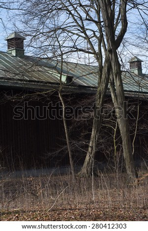 Barn In Germany as Symbol of European Agricultural  - stock photo