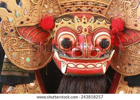 Barong Mask, Signature of Bali - stock photo