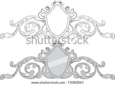 Baroque coat of arms - stock photo