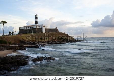 Barra Lighthouse, Salvador da Bahia, Brazil - stock photo