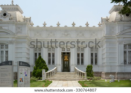 BARRANCO, PERU - OCTOBER 18, 2015: Pedro de Osma Museum. Opening in 1988 the museum, in the suburbs of Lima, is dedicated to preserving Peruvian viceregal artworks. - stock photo