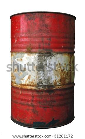 barrel, dirty drum barrel - stock photo