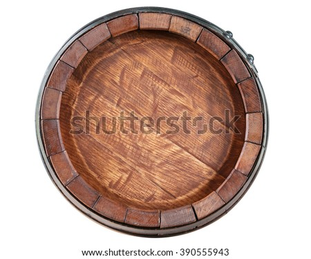 Barrel front view on white background - stock photo