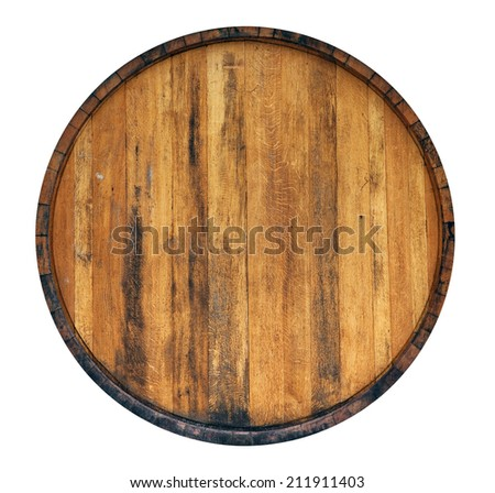 Barrel isolated on white background - stock photo