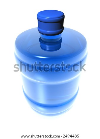barrel with water on white background (see more in my portfolio) - stock photo