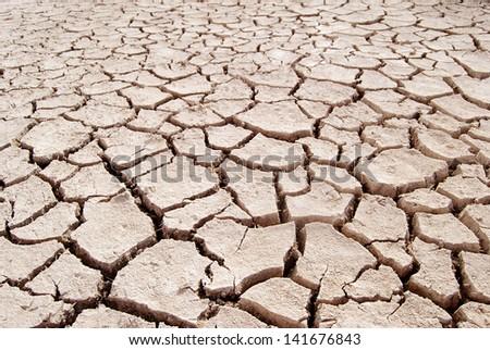 Barren ground horizontal - stock photo