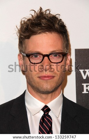 Barrett Foa at the L.A. Gay And Lesbian Center Hosts 'An Evening' honoring Amy Pascal and Ralph Ricci, Beverly Wilshire, Beverly Hills, CA 03-21-13 - stock photo