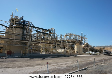 Barrick Gold Mines West Wyalong NSW processing plant extraction - stock photo