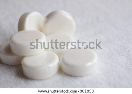 bars of white soap - stock photo