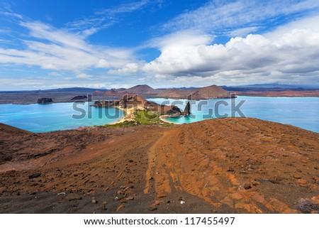 Bartolome Island, Galapagos Islands, Ecuador - stock photo