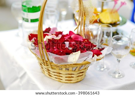 bascet roses - stock photo