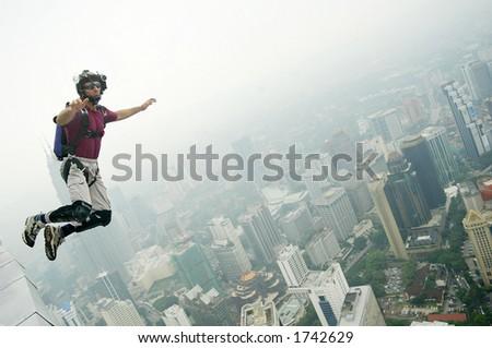 BASE JUMP 10 - stock photo