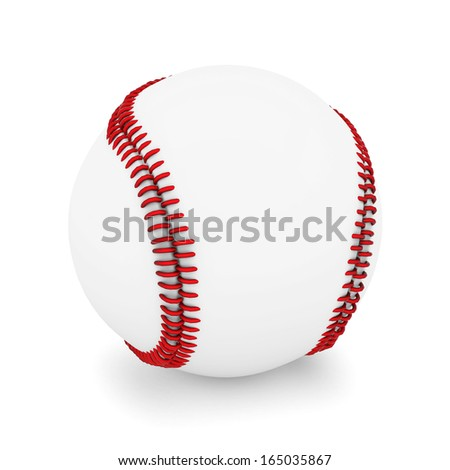 Baseball ball isolated on a white background - stock photo