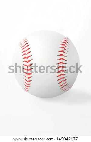 baseball ball, isolated on white background. - stock photo