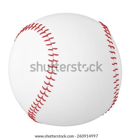 Baseball ball isolated on white background. 3d illustration high resolution - stock photo
