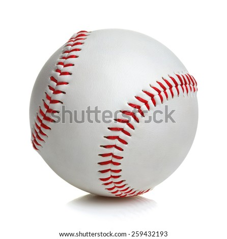 Baseball ball on white background - stock photo