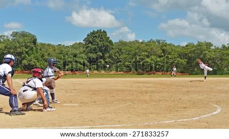 Baseball boys - stock photo