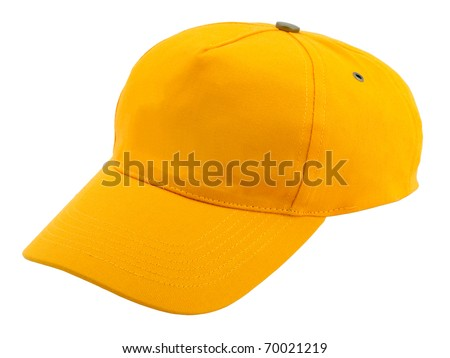 Baseball cap isolated on white background - stock photo