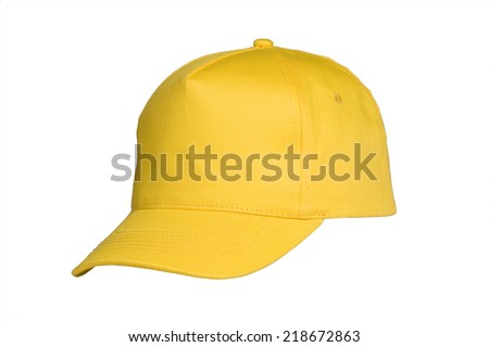 Baseball Cap Yellow - stock photo