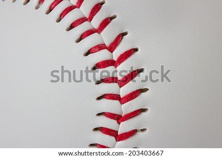 Baseball detail close-up - stock photo