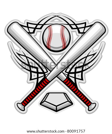 Baseball emblem for sports design or mascot, such a logo. Vector version also available in gallery - stock photo