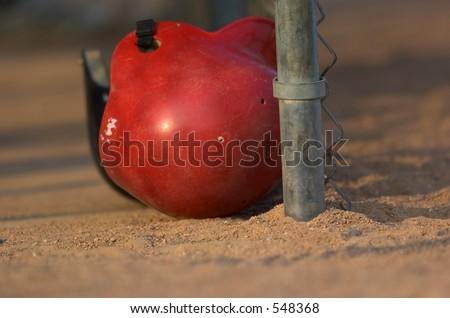 Baseball helmet - stock photo