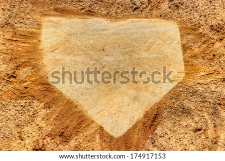 Baseball Home Plate  - stock photo