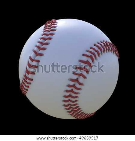 Baseball isolated on a black background - stock photo