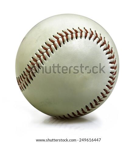 Baseball isolated on white - stock photo