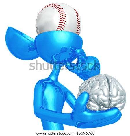 Baseball Mind - stock photo
