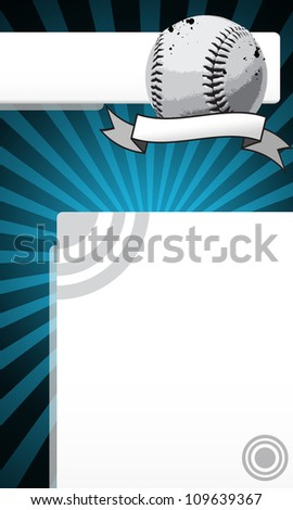 Baseball object and space on grunge Abstract graphic Background - stock photo