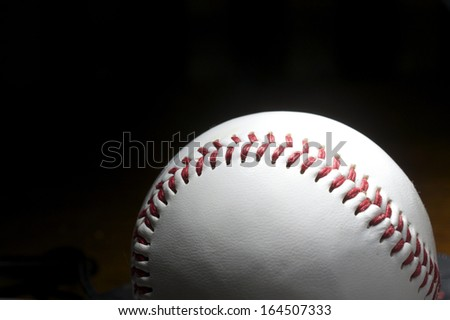 Baseball on Black Background - stock photo