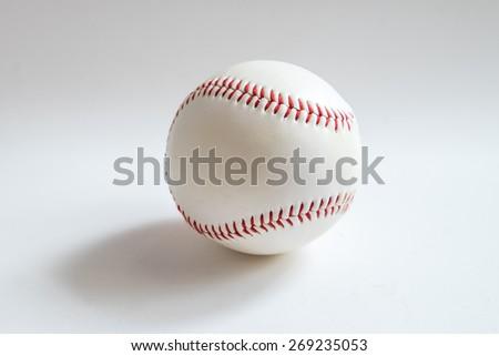Baseball on white background - stock photo