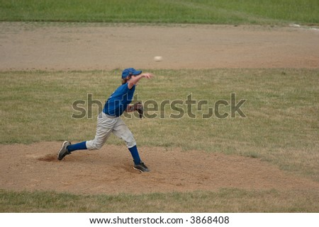 Baseball Pitcher Pitching - stock photo