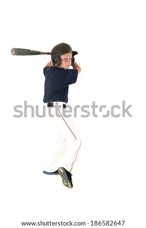 baseball player batting waiting for a pitch - stock photo