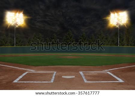 Baseball Stadium - stock photo