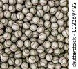 Baseballs background - stock photo